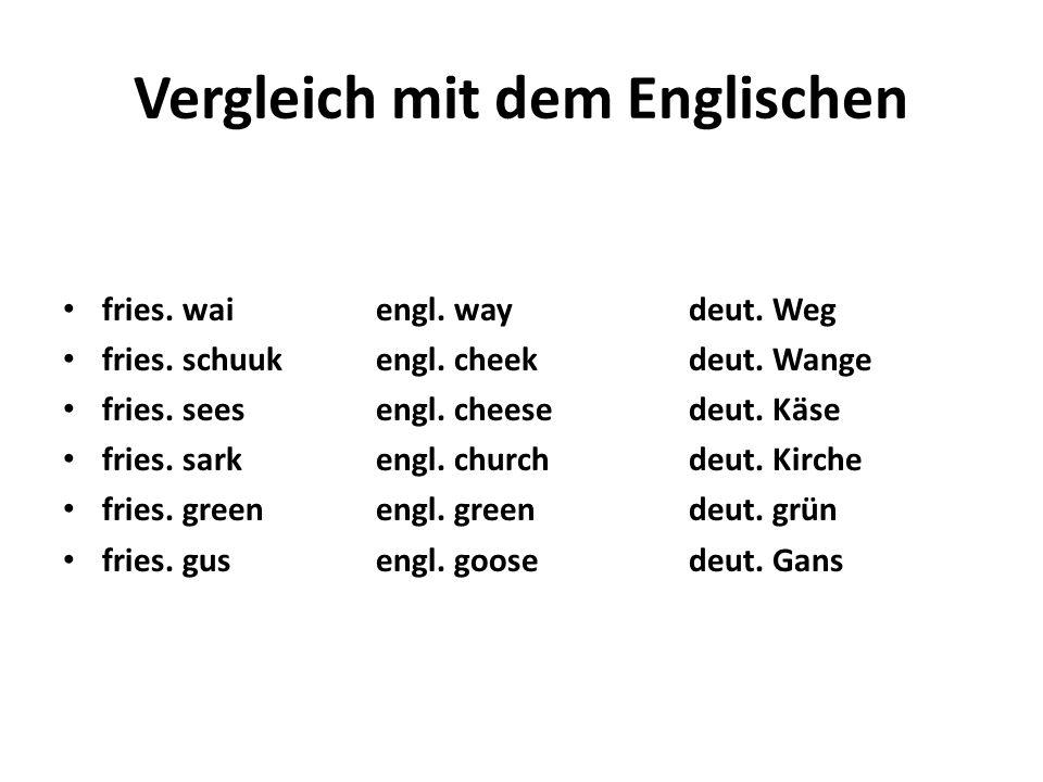 Vergleich mit dem Englischen