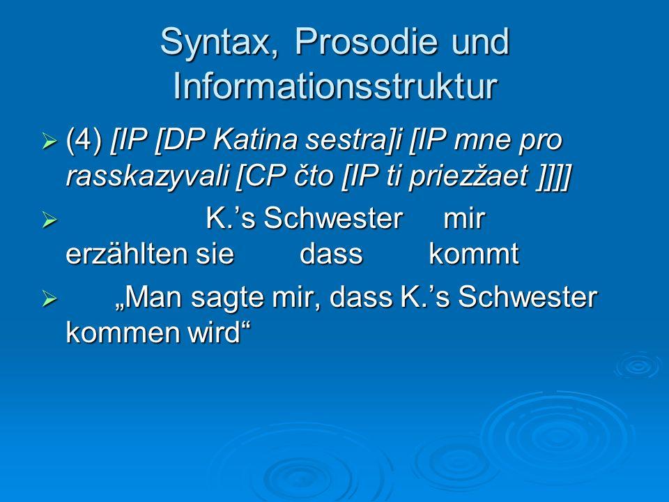 Syntax, Prosodie und Informationsstruktur