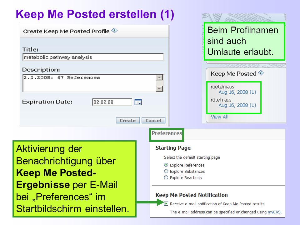 Keep Me Posted erstellen (1)