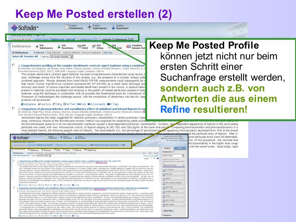 Keep Me Posted erstellen (2)