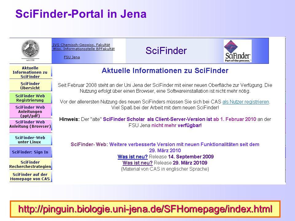 SciFinder-Portal in Jena