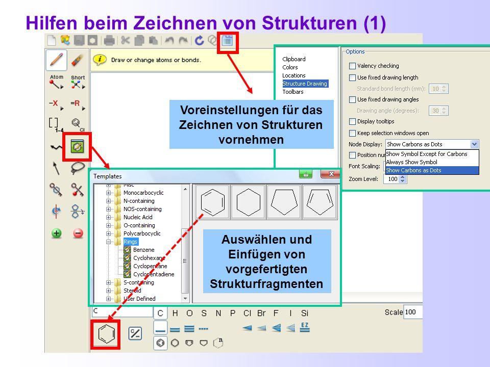 Hilfen beim Zeichnen von Strukturen (1)