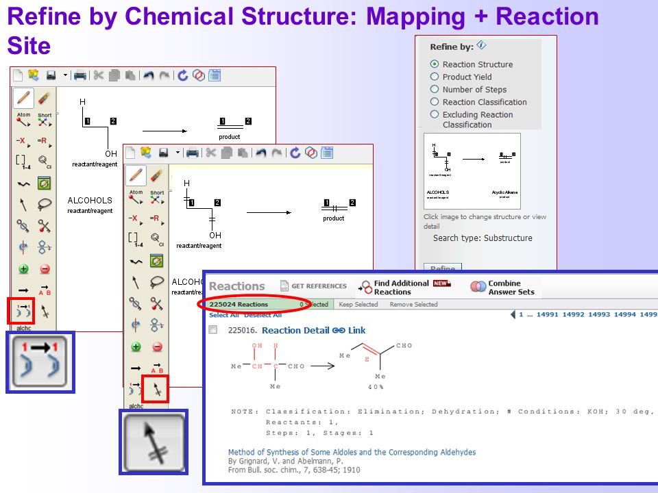 Refine by Chemical Structure: Mapping + Reaction Site