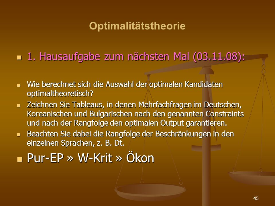 Pur-EP » W-Krit » Ökon Optimalitätstheorie