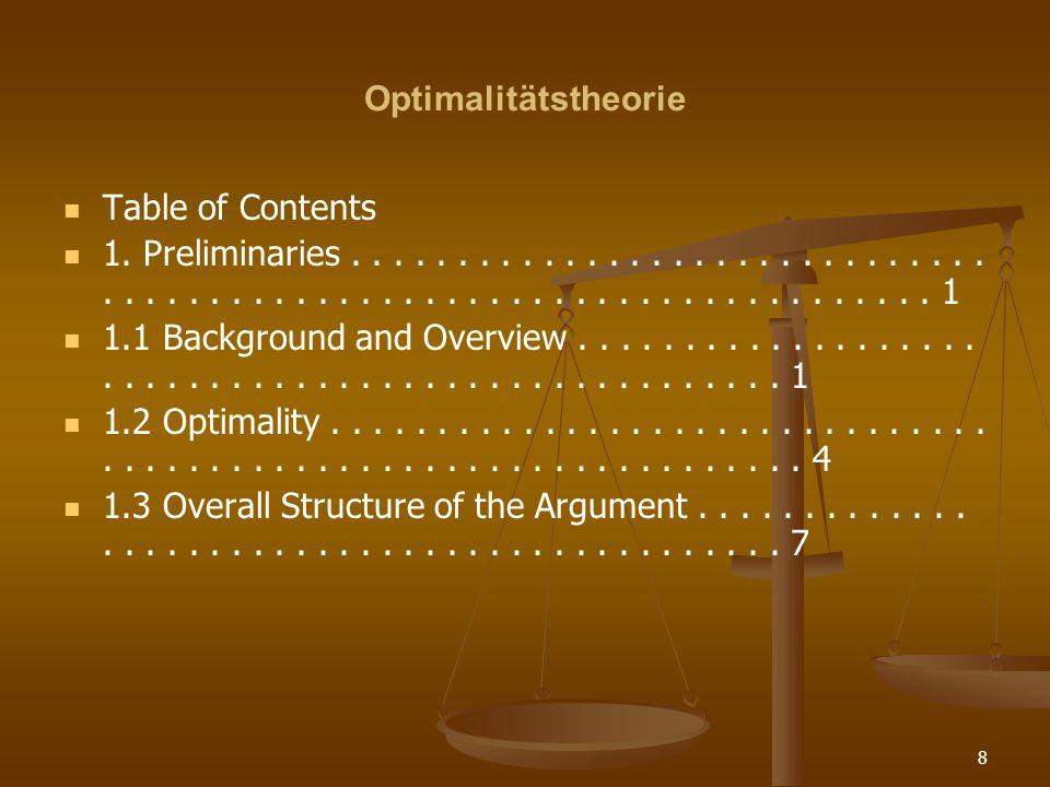 OptimalitätstheorieTable of Contents.