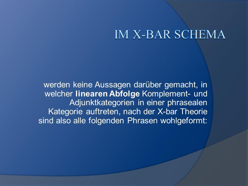 im X-bar Schema