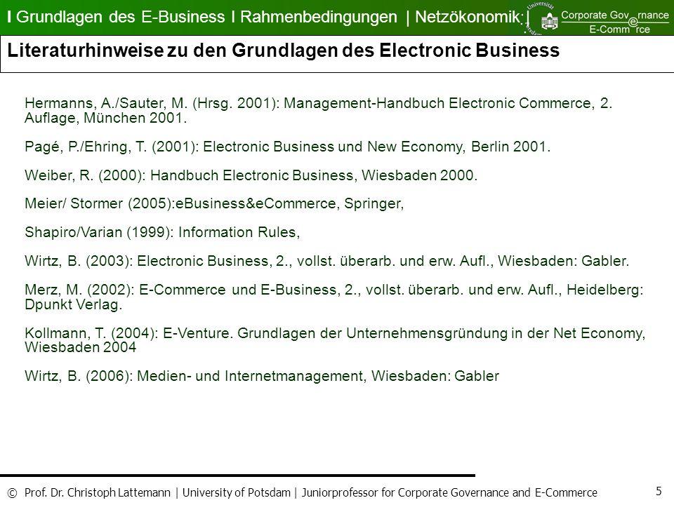 Literaturhinweise zu den Grundlagen des Electronic Business