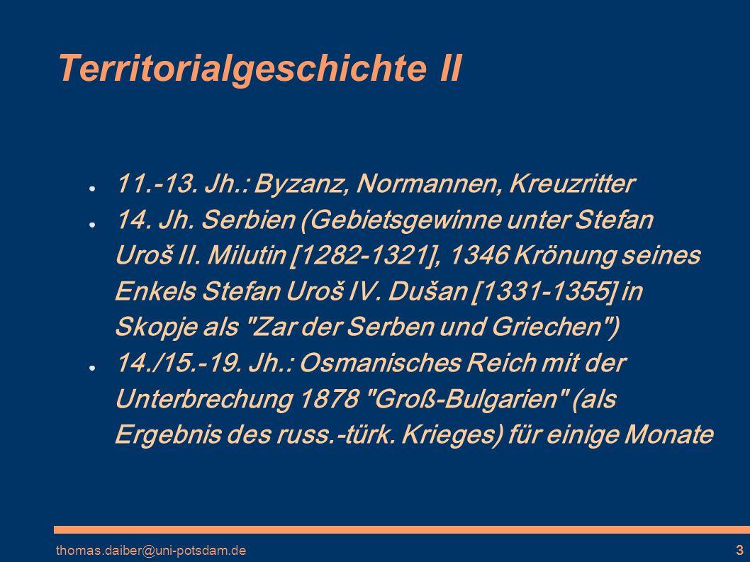 Territorialgeschichte II