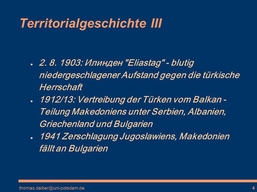Territorialgeschichte III