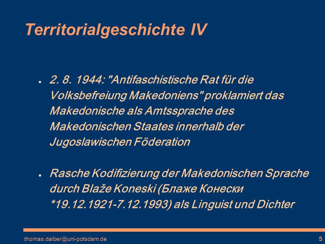 Territorialgeschichte IV