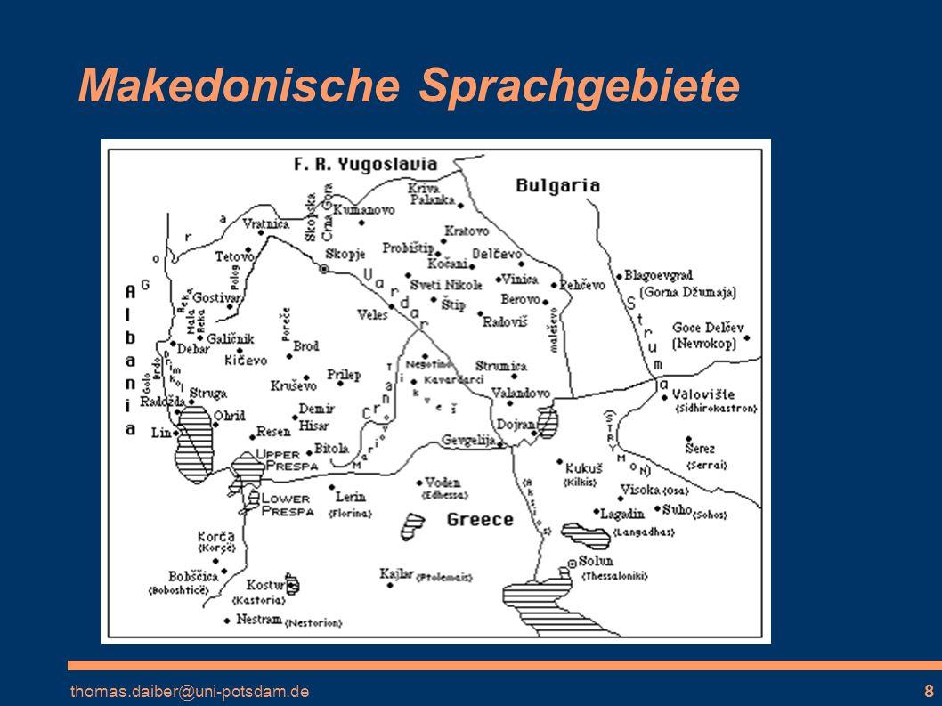 Makedonische Sprachgebiete