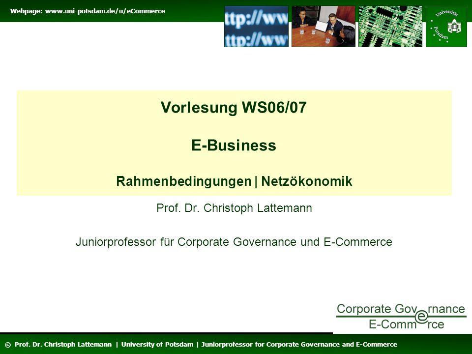 Vorlesung WS06/07 E-Business Rahmenbedingungen | Netzökonomik