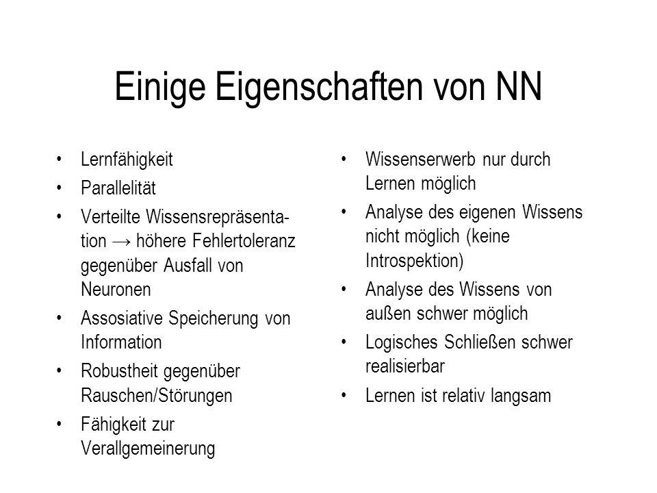 Einige Eigenschaften von NN