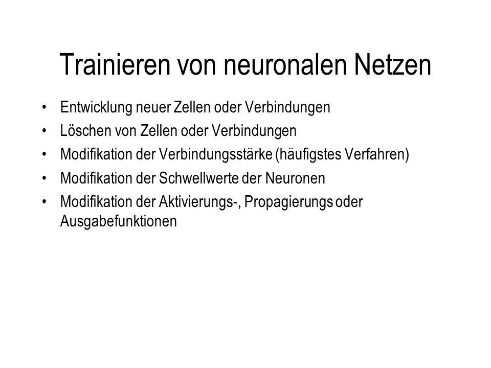 Trainieren von neuronalen Netzen