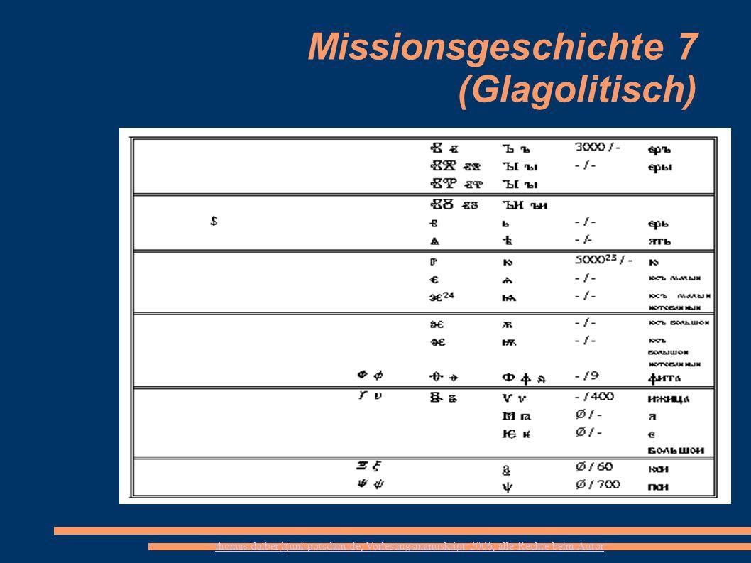 Missionsgeschichte 7 (Glagolitisch)