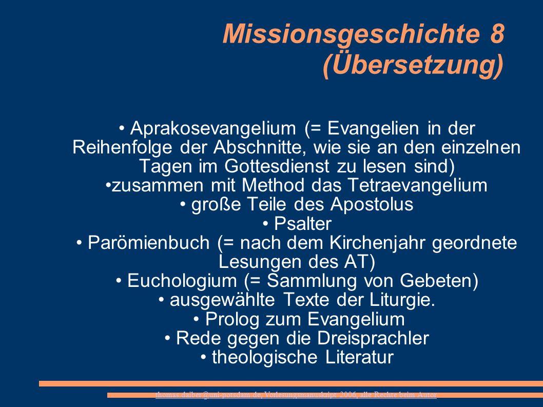 Missionsgeschichte 8 (Übersetzung)