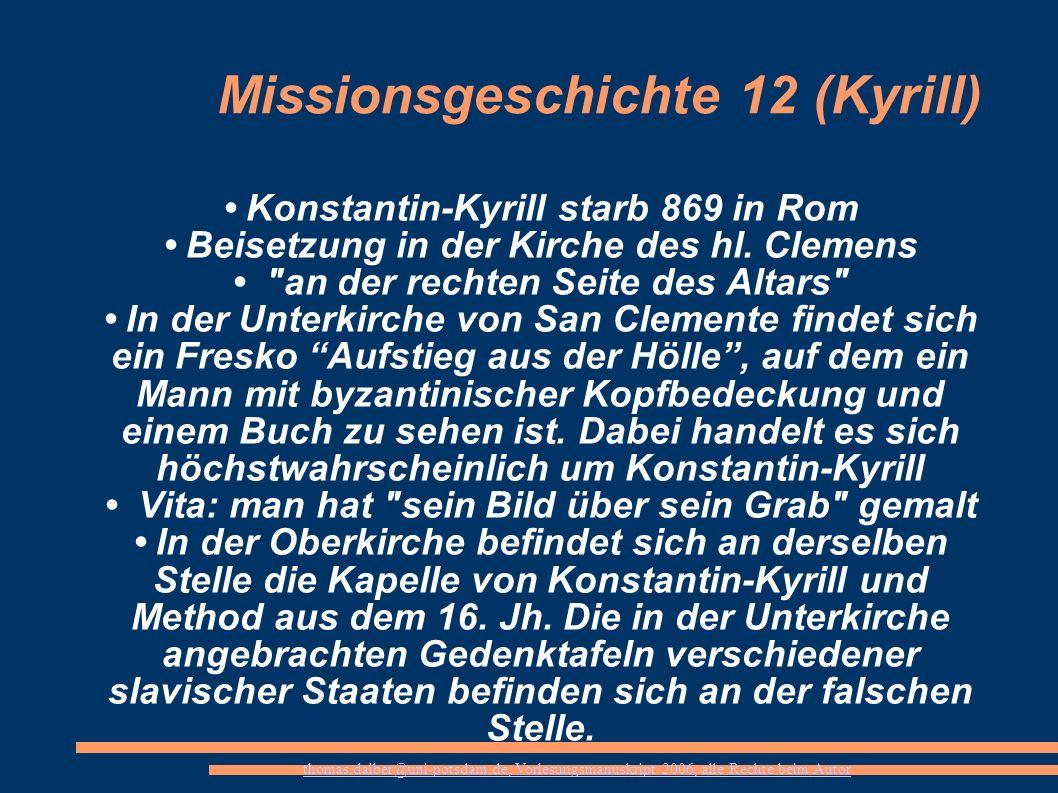 Missionsgeschichte 12 (Kyrill)