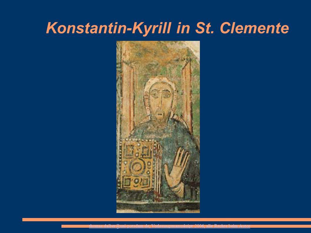 Konstantin-Kyrill in St. Clemente