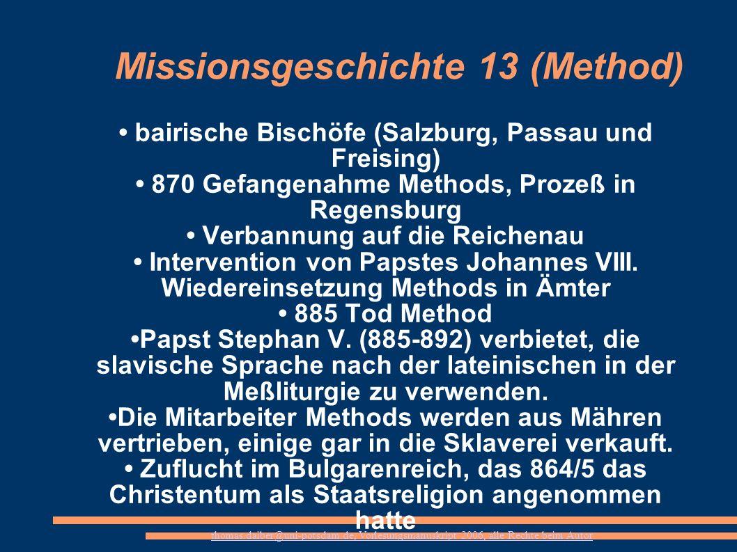 Missionsgeschichte 13 (Method)