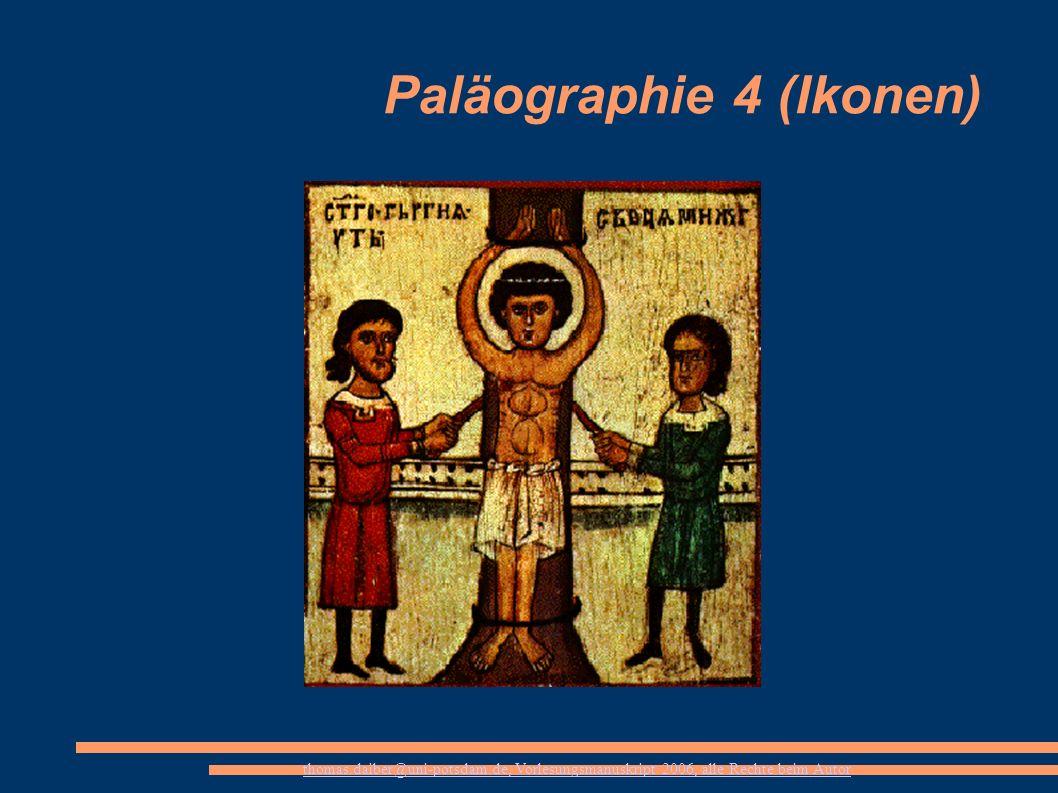 Paläographie 4 (Ikonen)