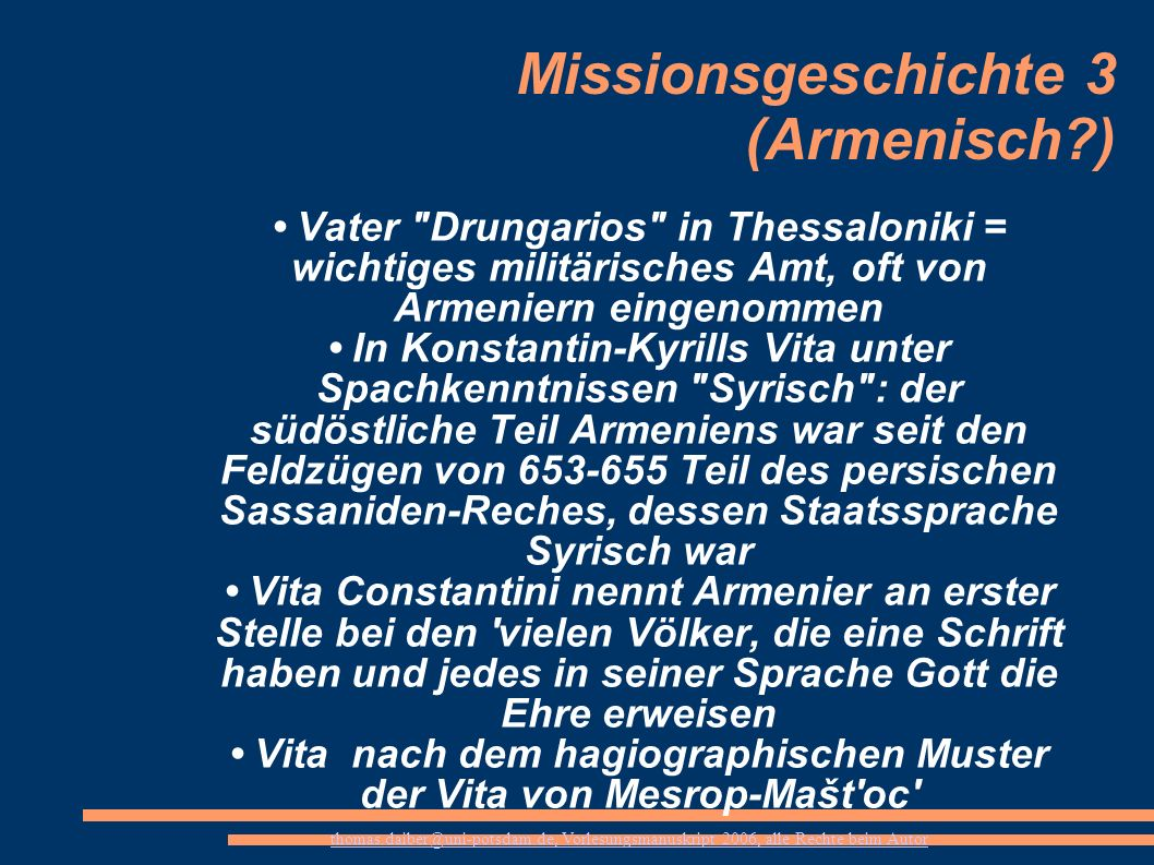 Missionsgeschichte 3 (Armenisch )
