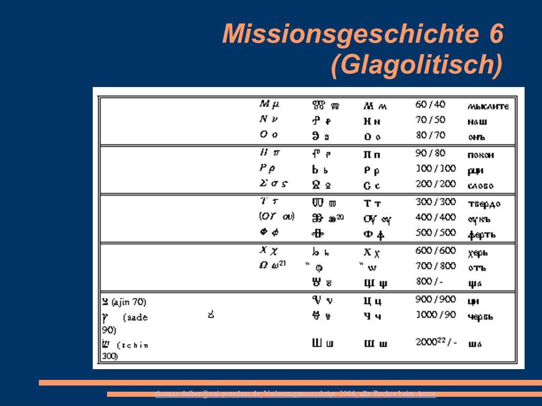 Missionsgeschichte 6 (Glagolitisch)