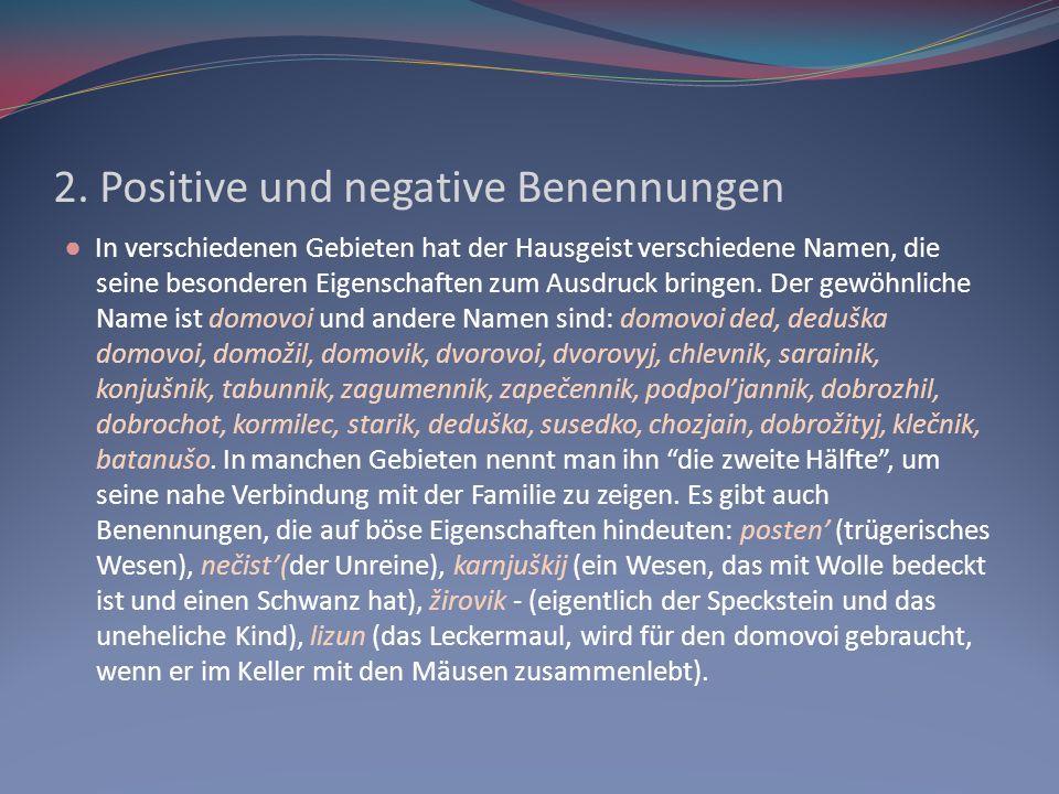 2. Positive und negative Benennungen