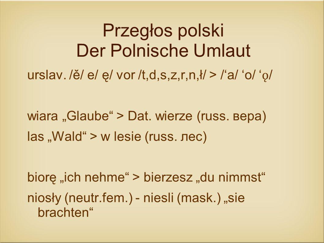 Przegłos polski Der Polnische Umlaut