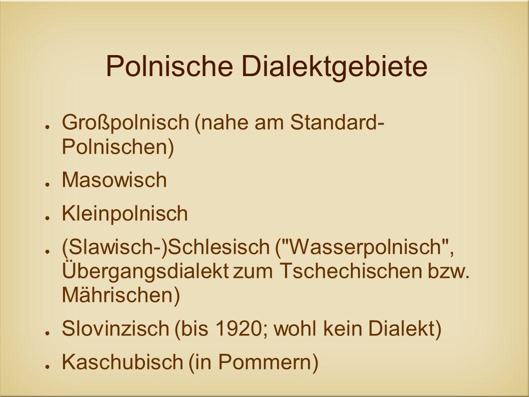 Polnische Dialektgebiete