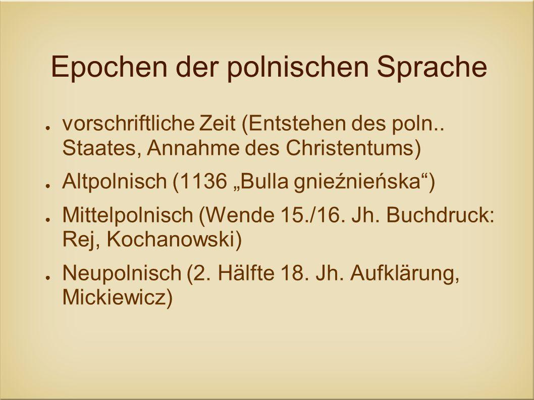 Epochen der polnischen Sprache