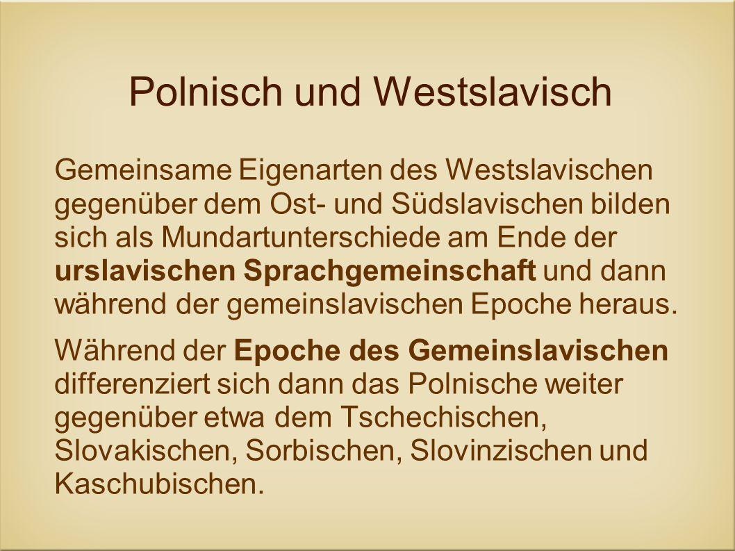 Polnisch und Westslavisch