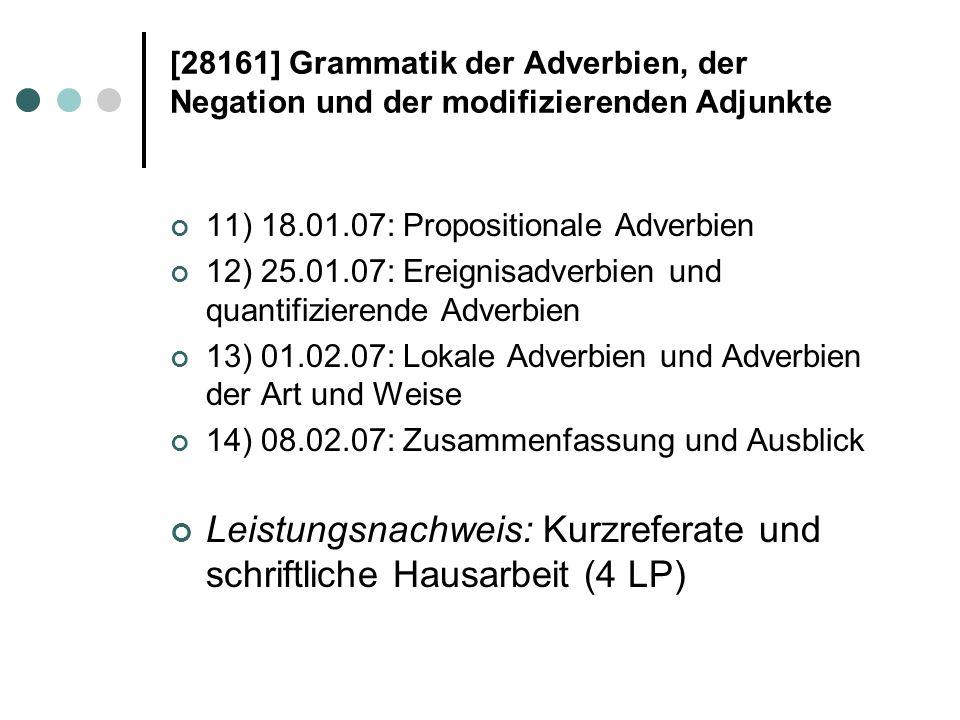 28161 Grammatik Der Adverbien Der Negation Und Der Modifizierenden