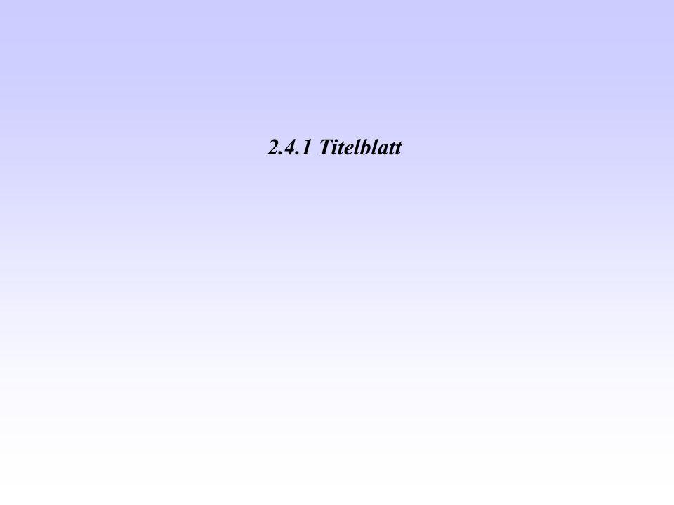 2.4.1 Titelblatt