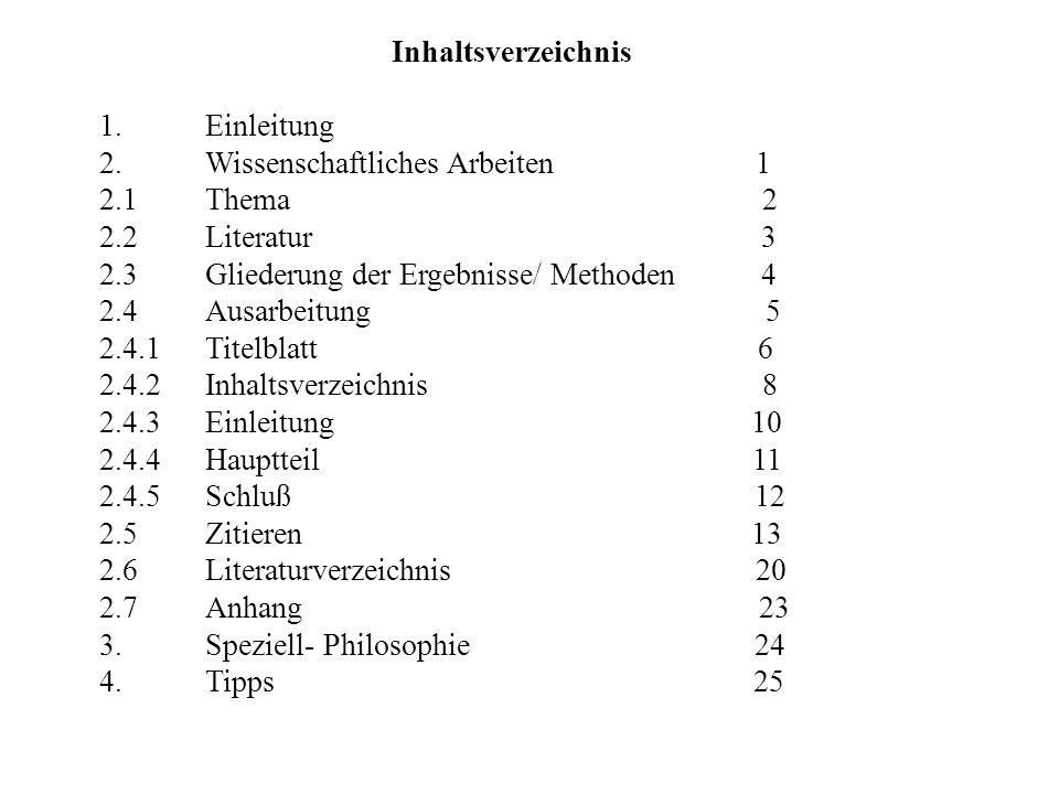 Inhaltsverzeichnis 1. Einleitung. 2. Wissenschaftliches Arbeiten 1.