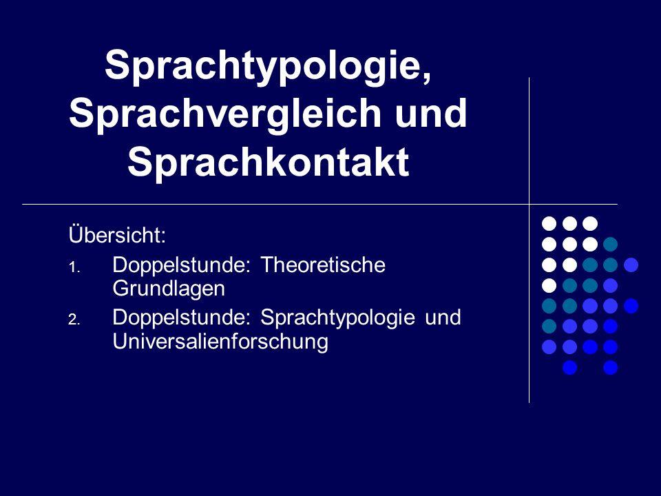Sprachtypologie, Sprachvergleich und Sprachkontakt