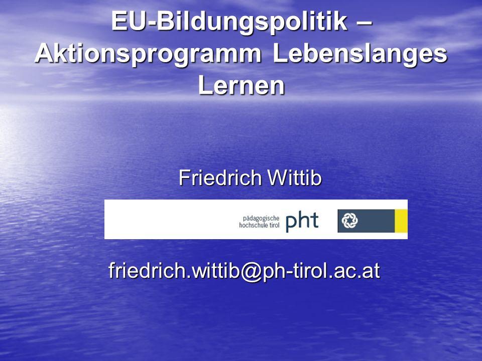 EU-Bildungspolitik – Aktionsprogramm Lebenslanges Lernen