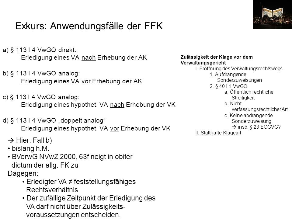 Exkurs: Anwendungsfälle der FFK