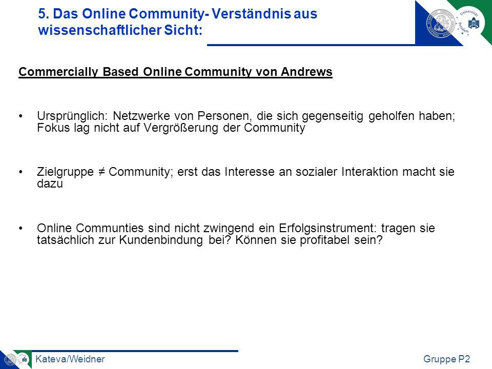 5. Das Online Community- Verständnis aus wissenschaftlicher Sicht: