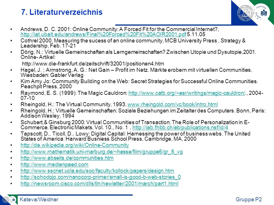 7. Literaturverzeichnis