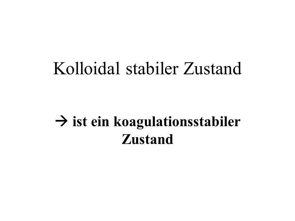Kolloidal stabiler Zustand