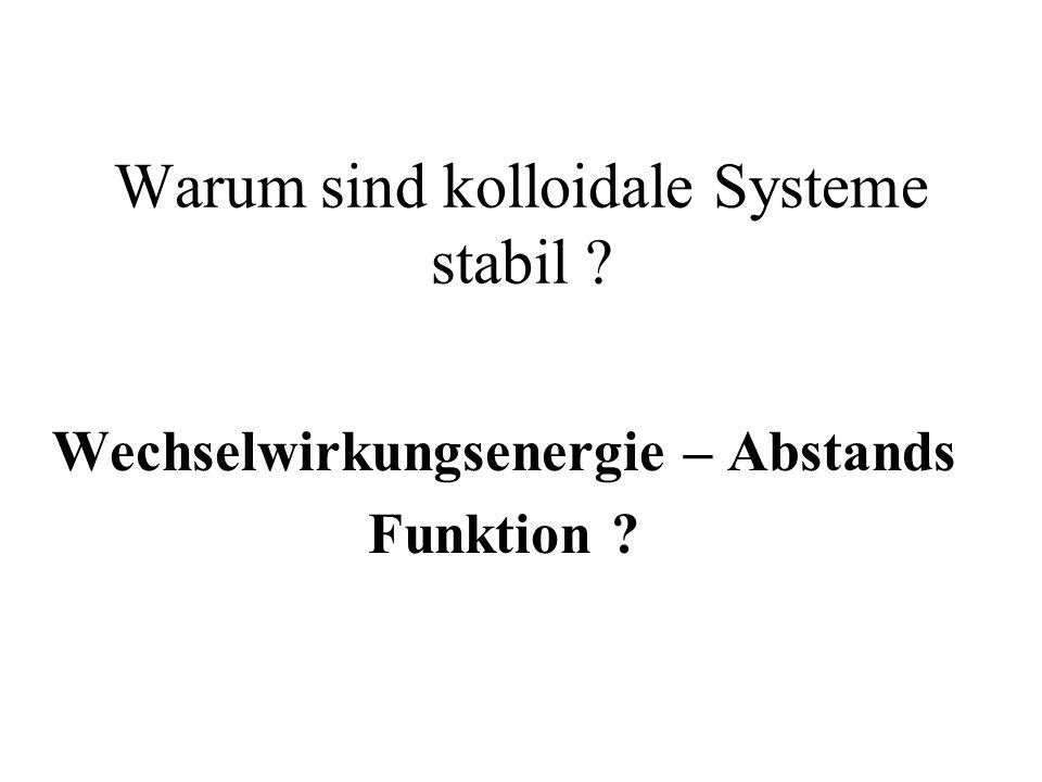 Warum sind kolloidale Systeme stabil