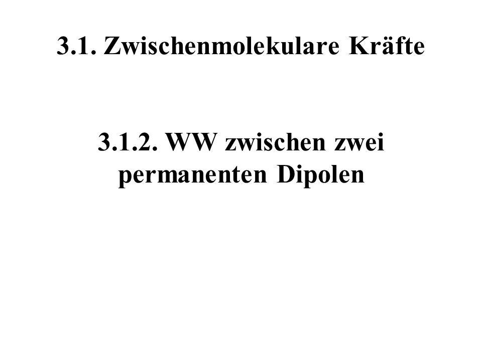 3. 1. Zwischenmolekulare Kräfte 3. 1. 2