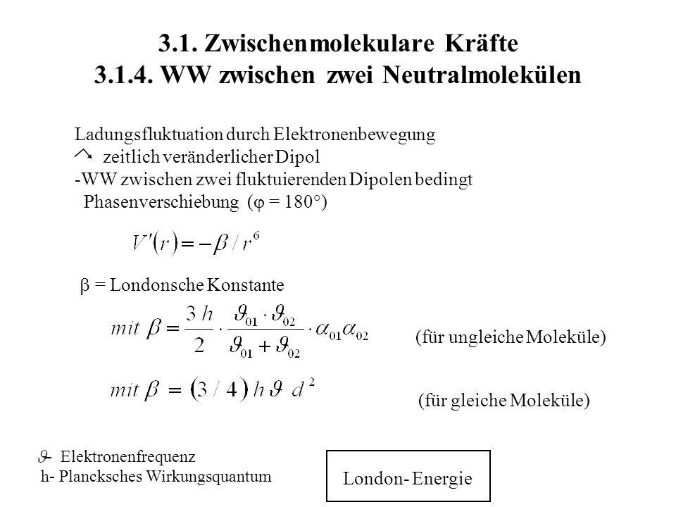 3. 1. Zwischenmolekulare Kräfte 3. 1. 4