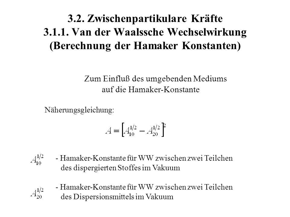3. 2. Zwischenpartikulare Kräfte 3. 1. 1