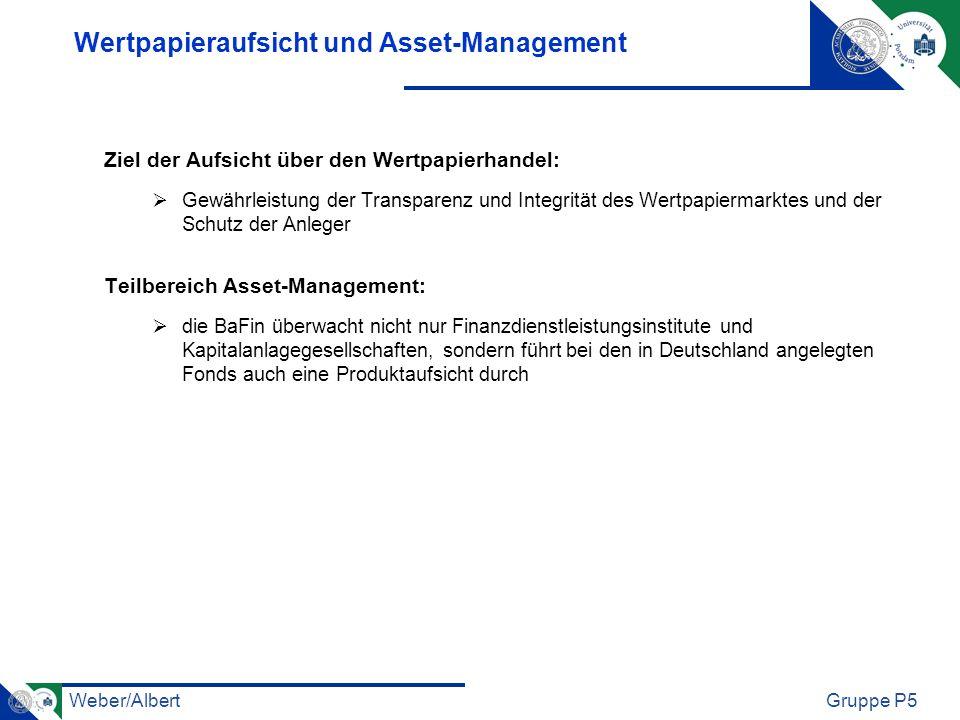 Wertpapieraufsicht und Asset-Management