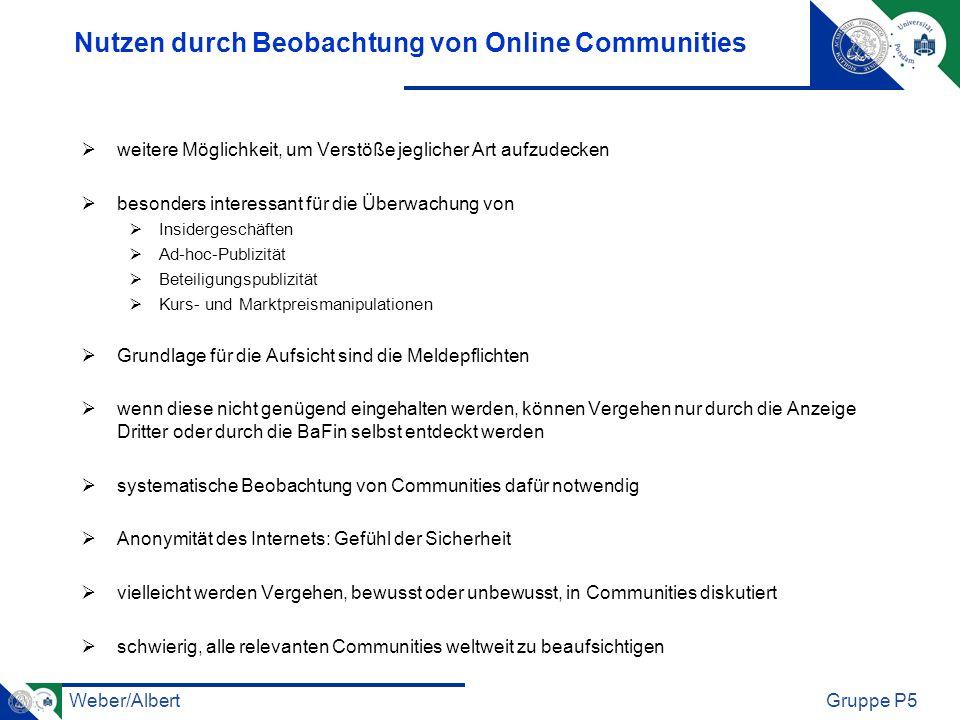 Nutzen durch Beobachtung von Online Communities