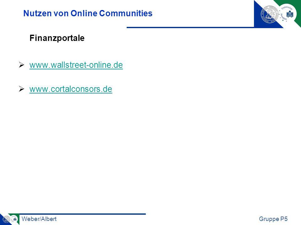 Nutzen von Online Communities