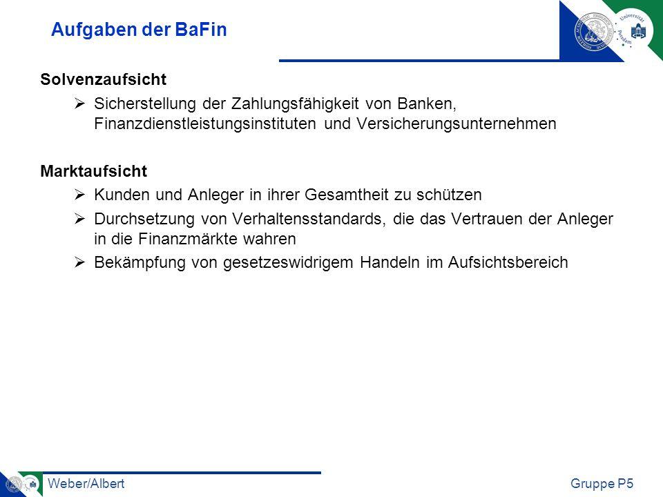 Aufgaben der BaFin Solvenzaufsicht