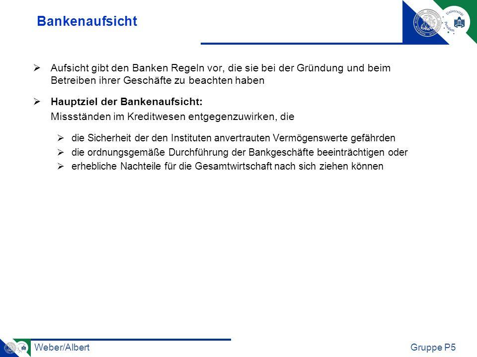 Bankenaufsicht Aufsicht gibt den Banken Regeln vor, die sie bei der Gründung und beim Betreiben ihrer Geschäfte zu beachten haben.