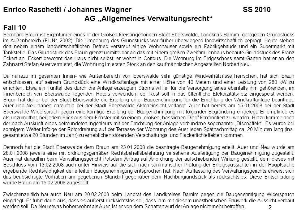 """AG """"Allgemeines Verwaltungsrecht"""